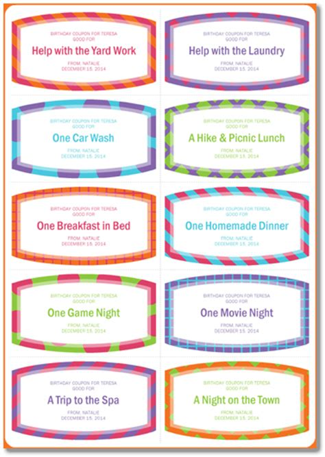 birthday coupon template for mom www imgkid com the