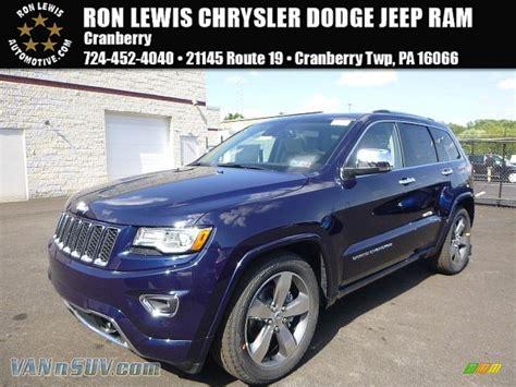 beige jeep grand cherokee 2015 jeep grand cherokee overland 4x4 in true blue pearl