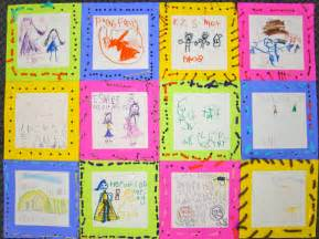 kindness quilt crayons wands building blocks