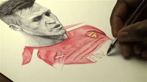 alexis sanchez drawing arsenal news artist and gunners fan shows off amazing