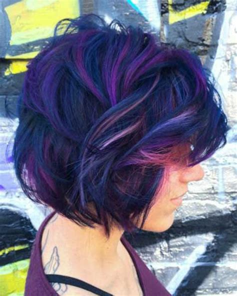 pictures of different hairstyles and colors short colored hair ideas with different styles short