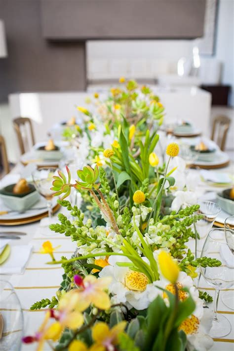 beautiful table settings green and brown styled shoot yellow mint inspiration by wedding