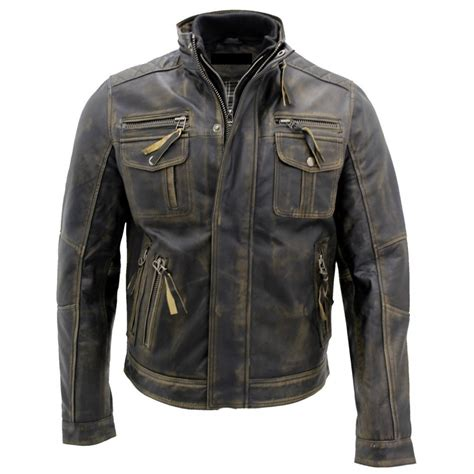 motorcycle style leather jacket buy biker style motorcycle cafe racer distressed leather