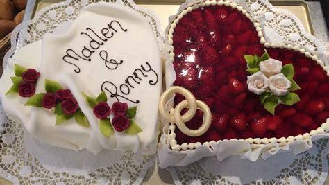 Hochzeitstorte Herz by Hochzeitstorte Herz M Erdbeeren Fondant B 228 Ckerei