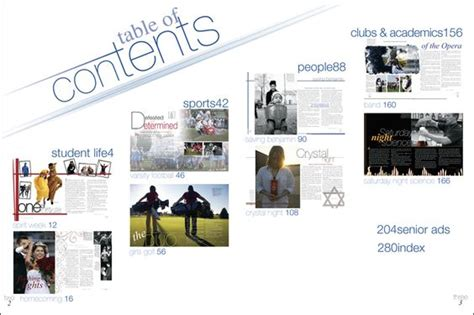 pages like layout it like the spread on contents idea yearbook ideas