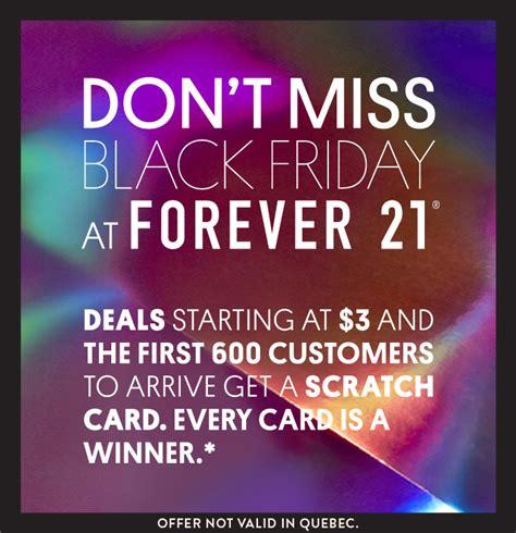 forever back forever 21 canada black friday sale deals scratch card