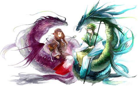 anime dragon girl wallpaper anime dragon girls beauty wallpaper dreamlovewallpapers