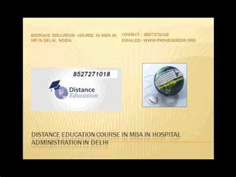 Distance Learning Mba In Hospital Administration by Distance Education Course In Mba In Hospital