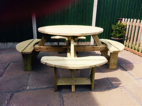 round picnic benches for sale churnet valley quality handcrafted garden products build