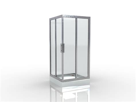 Free Standing Showers by Free Standing Shower Enclosure 3d Model 3dsmax Files Free
