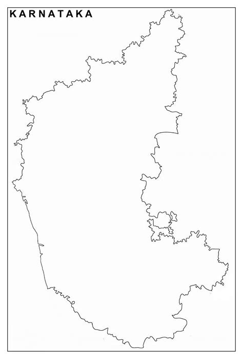 Karnataka Map Download Free Pdf Map - Infoandopinion