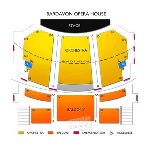 Opera House Seating Plan Bardavon Opera House Seating Chart Seats