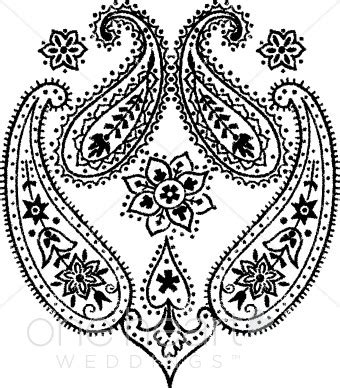 bandana pattern drawing paisley clipart wedding designs