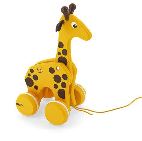brio pull along toys brio pull along giraffe