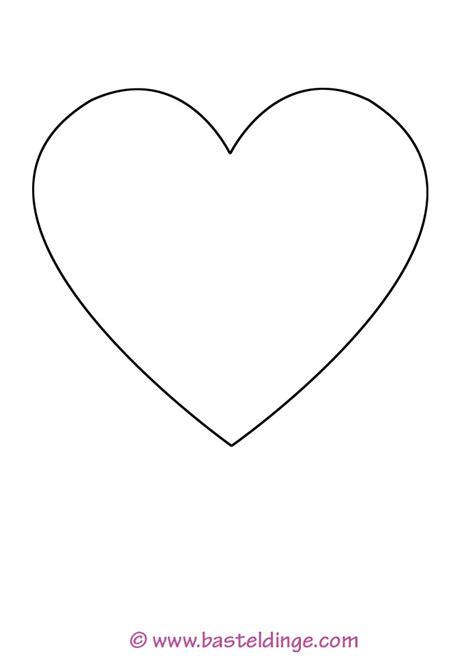 Kleines Herz by Gro 223 E Und Kleine Herz Vorlagen Basteldinge