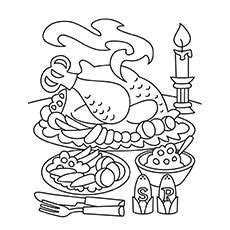 Thanksgiving Food Coloring Pages by Freebie Seasonal Math Printables Color By The