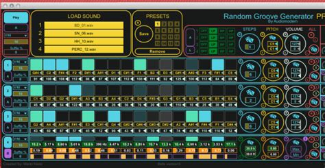 pattern generator max for live random groove generator pro an advanced sequencer for