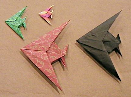 Montroll Origami - origami angelfish by montroll