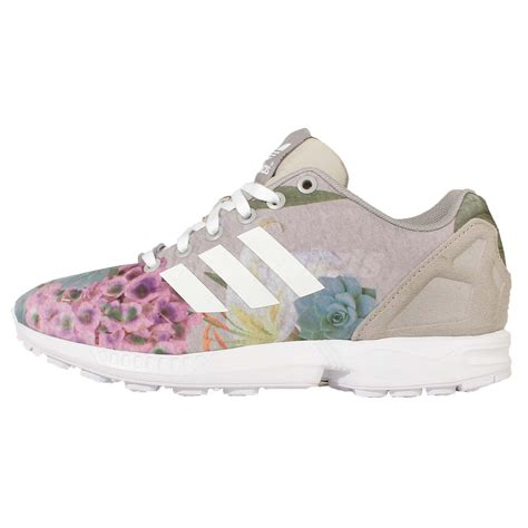 adidas floral shoes adidas originals zx flux w grey flower womens running