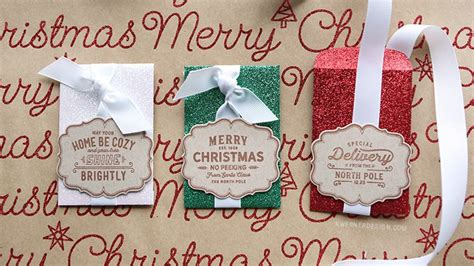 Last Minute Christmas Gift Cards - glitter gift card envelopes last minute christmas kwernerdesign blog