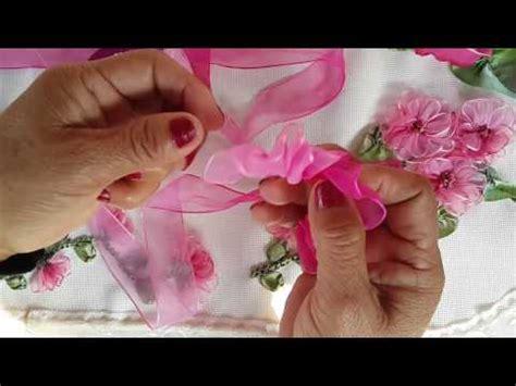 como hacer flores en cinta o liston goshii youtube como hacer flores en cinta o liston goshii youtube