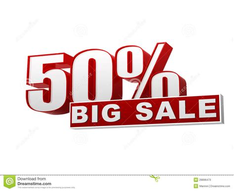 Sharma Designs 50 Sale by 50 Percentages Big Sale White Banner Letters And