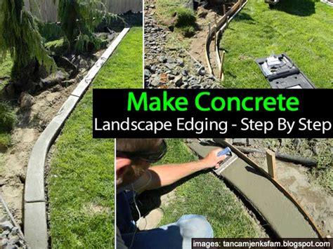 Landscape Edging Diy Diy Make Concrete Landscape Edging Step By Step