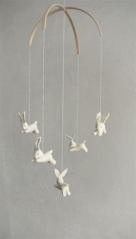 Bunny Crib Mobile by Baby Mobile Bunny Mobile Rabbit Mobile Jumping Hare