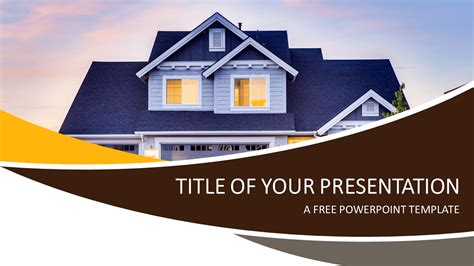 free real estate powerpoint templates real estate powerpoint template presentationgo