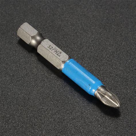 8x1 2 10pcs Sekrup Ph 10pcs 50mm ph2 screwdriver bit set anti slip chave de fenda el 233 trica magn 233 tica venda banggood