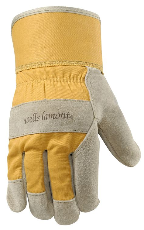 Cowhide Leather Work Gloves - lamont leather work gloves with safety cuff suede