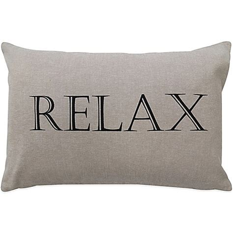 relax long bed pillow in cream accent pillow by takeflytefarm the vintage house by park b smith 174 quot relax quot oblong throw