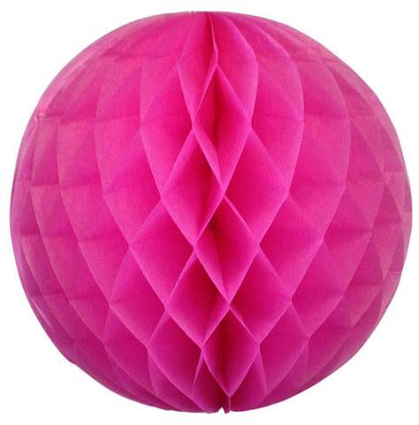 Tissue Paper Balls - tissue paper honeycomb 12inch bubblegum pink