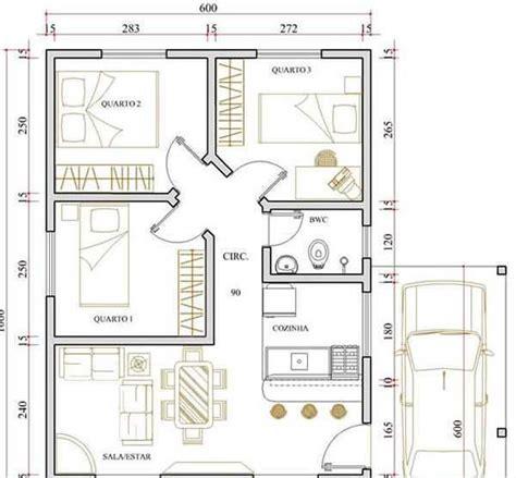 plantas casas plantas de casas modernas 3 quartos