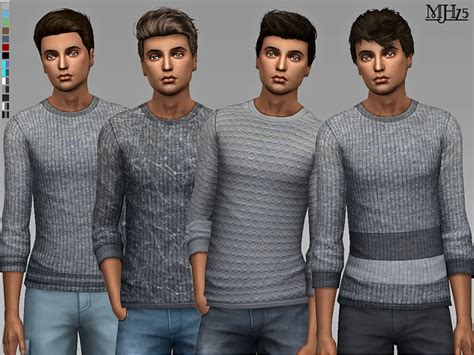 sims 4 male cc margeh 75 s s4 jerome sweaters