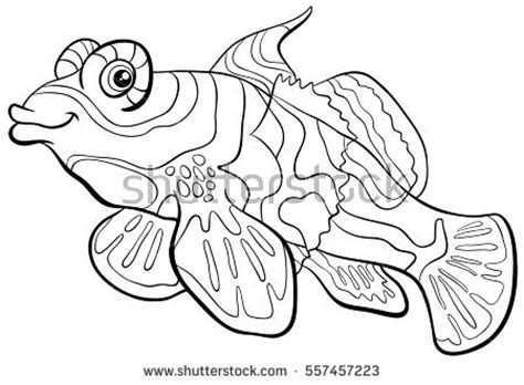 Mandarin Black And White crayfish lobster pattern coloring stock vector 523181212