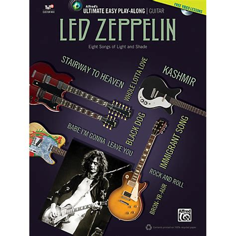 biography of led zeppelin book alfred led zeppelin ultimate easy guitar play along