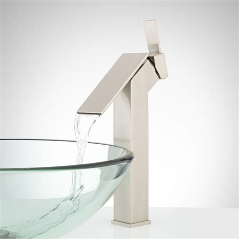 waterfall faucet for vessel sink belquin waterfall vessel faucet vessel sink faucets