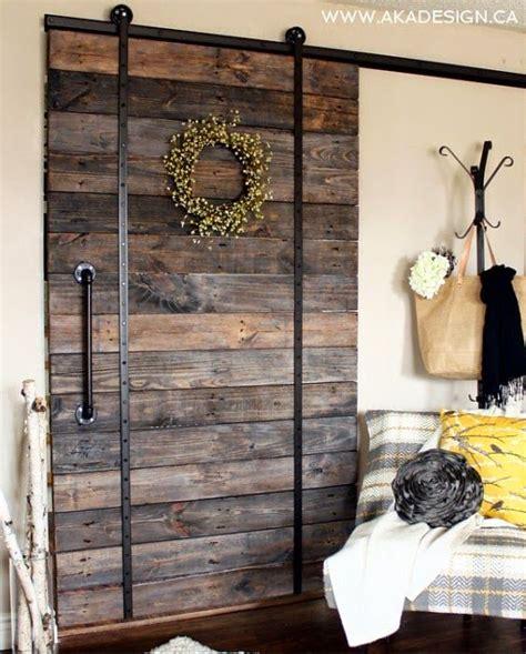 pallet wood barn door  aka design