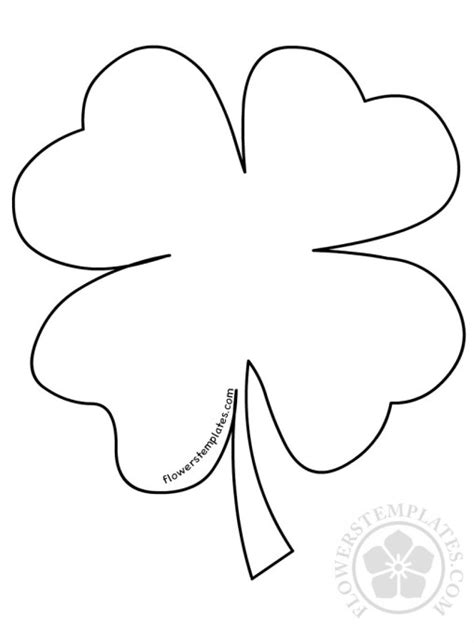 clover flower template shamrock flowers templates