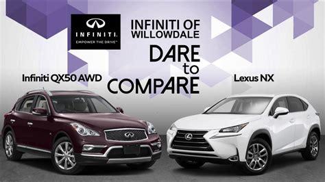 2019 Infiniti Gx50 by Infiniti Qx50 Vs Lexus Nx