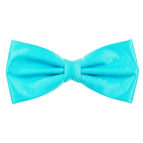 Plain Bow Tie plain aqua blue bow tie from ties planet uk