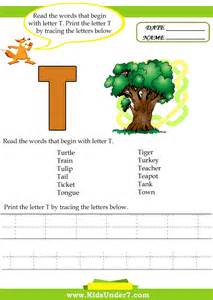 7 alphabet worksheets trace and print letter t