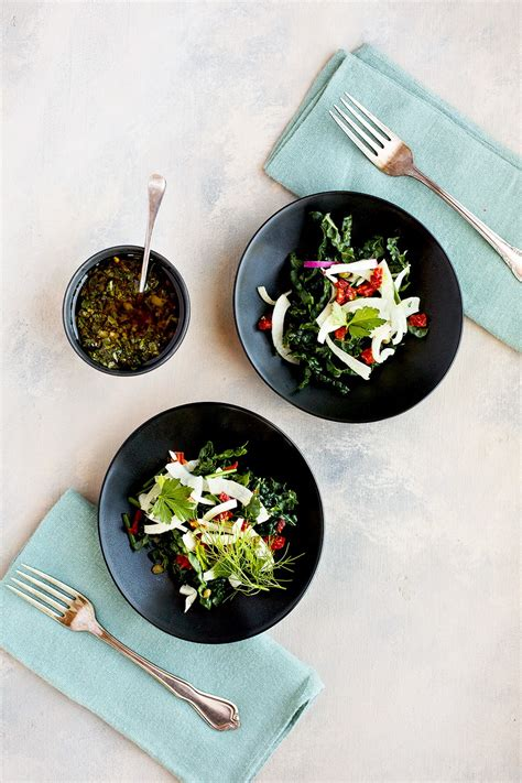 italian salsa verde kale salad