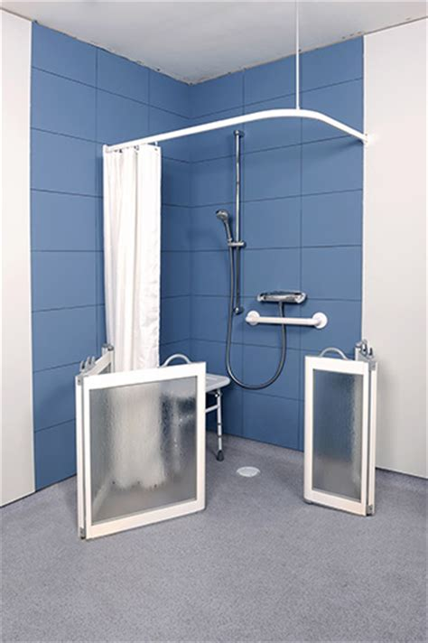 Contour Fixed Panel And Pole Wfx White Half Height Shower Half Height Shower Doors