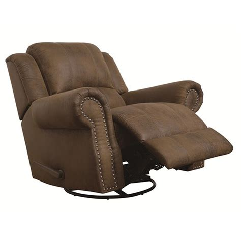 Swivel For Recliner by Coaster 650153 Brown Fabric Swivel Recliner A Sofa