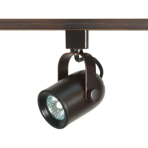 Home Depot Track Lights by Glomar 1 Light Mr16 Roundback Track Finished In