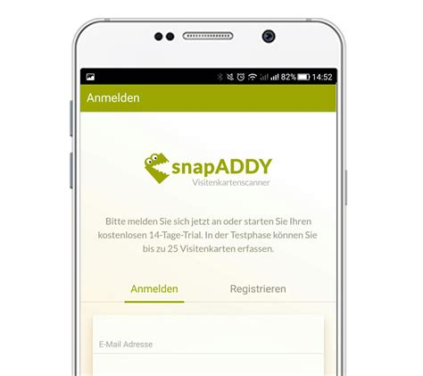 Visitenkarten In Outlook Scannen by Visitenkartenscanner F 252 R Ihr Crm Snapaddy Gmbh