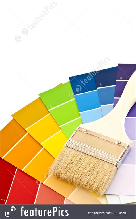 diy hardware paint brush with color cards stock photo i2106691 at featurepics