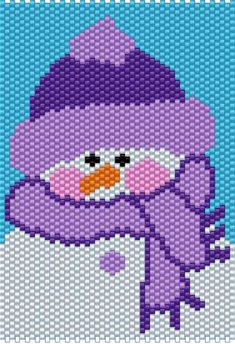 pony bead snowman purple snow purple snowman beaded banner 2012